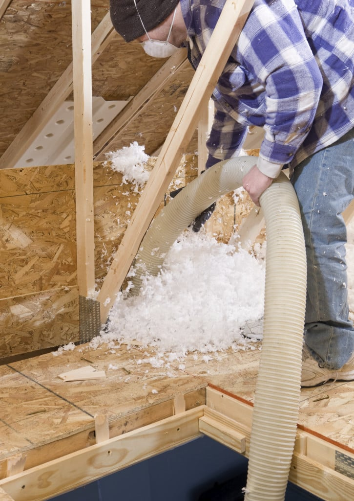 Blown fiberglass insulation iStock_000015843167_Large
